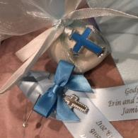 Baptism pins and boubous to match