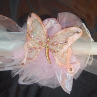 Butterfly Baptismal Candle