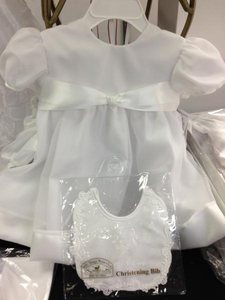 This dress is perfect for the goddaughter who loves simple and elegant.  