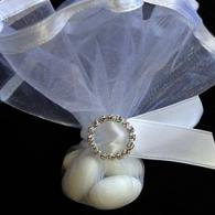 Wedding Favor - White Satin Bling