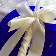 Pearl Wrap Wedding Candle